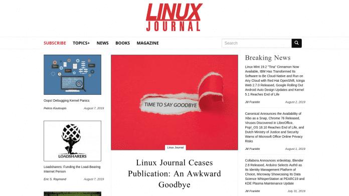Screenshot des Linux Journals