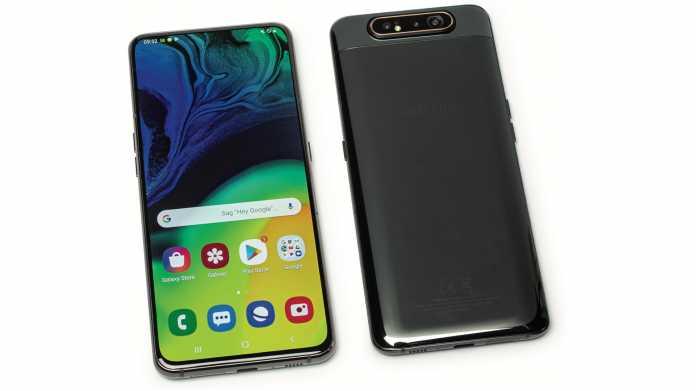 Smartphone Samsung Galaxy A80 mit Riesendisplay und innovativer Kamera