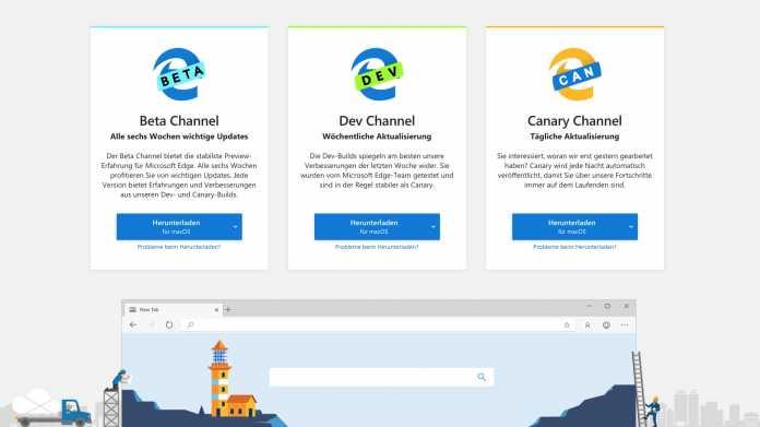 Microsoft veröffentlicht erste Beta vom neuen Edge-Browser