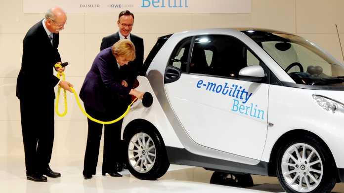Elektroautos: Merkel will bis 2022 die Millionengrenze knacken