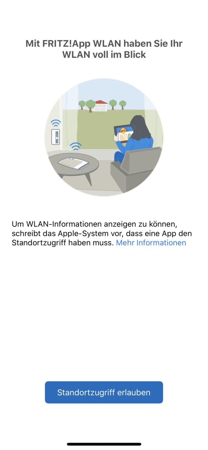 AVM erklärt, warum FritzApp WLAN für iOS plötzlich die Standortfreigabe benötigt.
