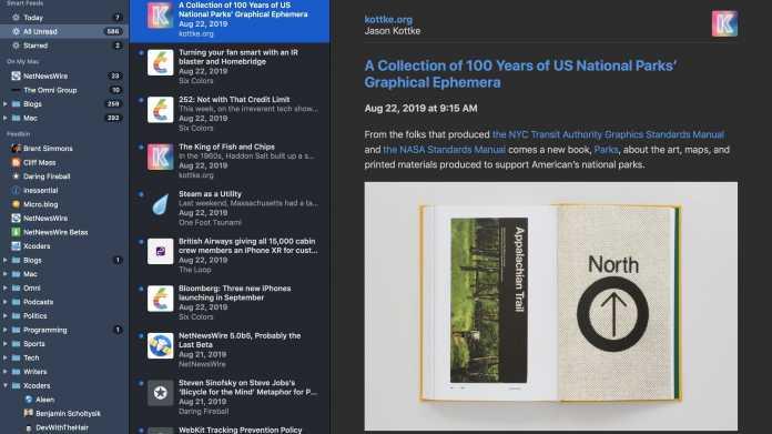 Neuer RSS-Reader: NetNewsWire 5 ist fertig