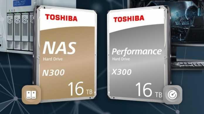 Toshiba N300 & X300: Zweiter Hersteller mit 16-TByte-Festplatten