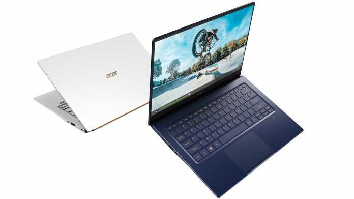 Acer zeigt besonders dünne und leichte Ice-Lake-Notebooks ab 800 Euro