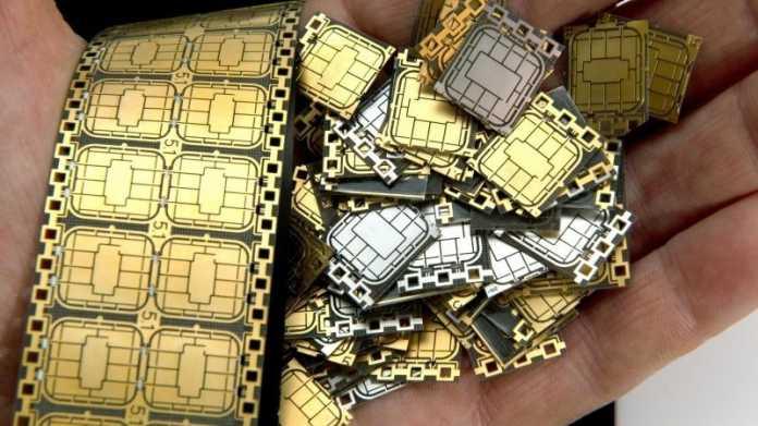 Eine Hand voll SIM-Karten