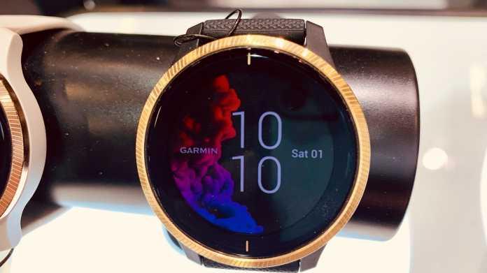 Garmin zeigt seine erste Smartwatch mit Touch-AMOLED