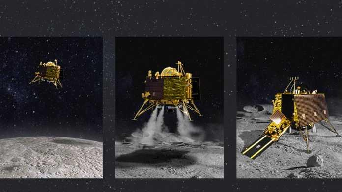 Indiens Mondsonde Chandrayaan-2: Landemodul Vikram soll auf dem Mond aufsetzen