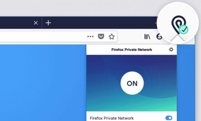 """An oder aus: Das """"Firefox Private Network"""" lässt sich einfach bedienen."""