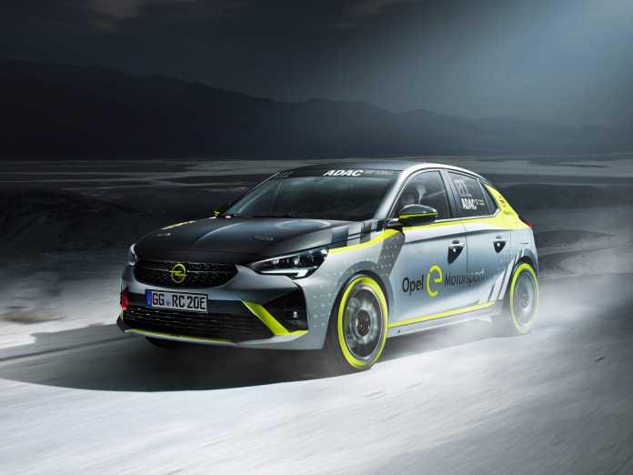 Den Corsa-e gibt es auch in einer Rallye-Version – für einen eigenen Marken-Cup, der 2020 starten soll.