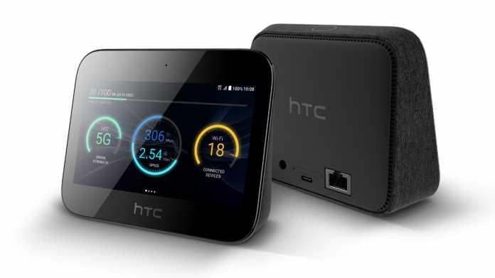 Der HTC 5G Hub ist einer der ersten Mobilfunk-Hotspots mit 5G-Modem. An Bord sind ein Display und ein Akku.