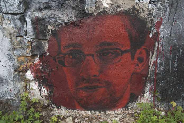 Wandgemälde Edward Snowdens