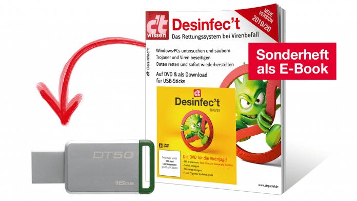 Jetzt erhältlich: USB-Stick mit Desinfec't 2019/20