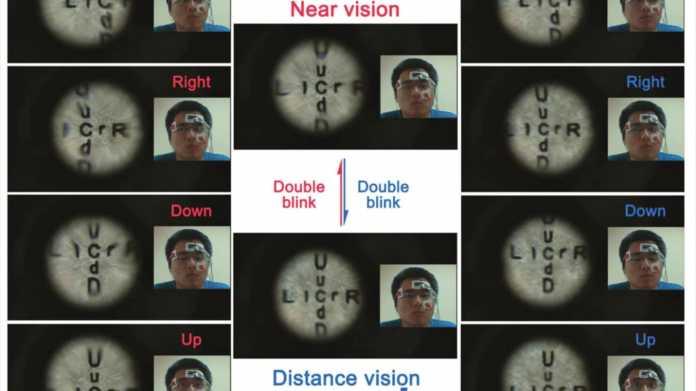 Kontaktlinse zoomt beim Blinzeln