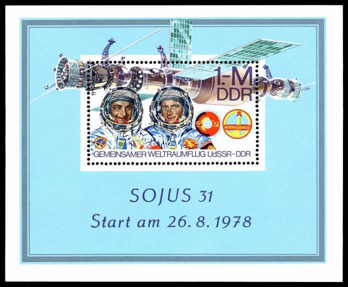 """DDR-Briefmarke """"Sojus 31"""""""