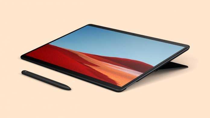 Surface Pro X: Dünnes Windows-Tablet mit ARM-Prozessor und LTE