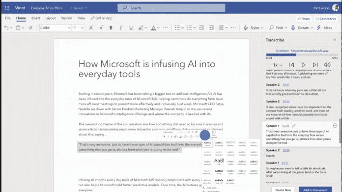 Office 365 lernt neue Eingabeformen