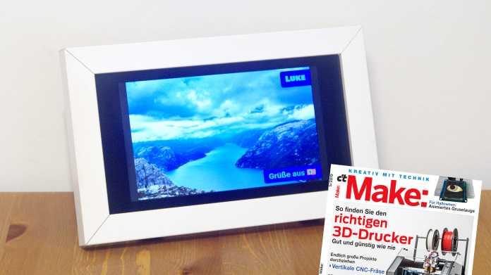 Perfektes Weihnachtsgeschenk: Smarter Bilderrahmen TeleFrame
