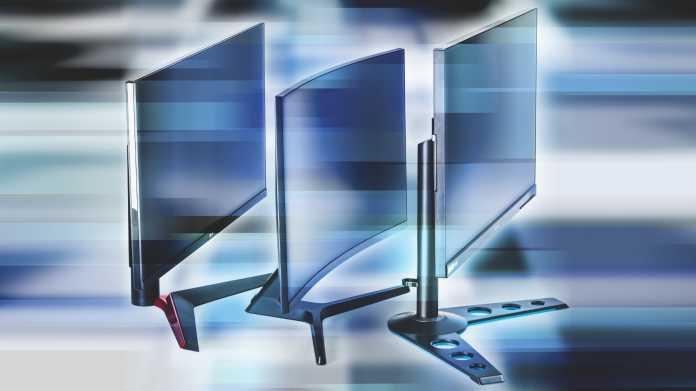 Drei schnelle Monitore mit 27 Zoll Diagonale
