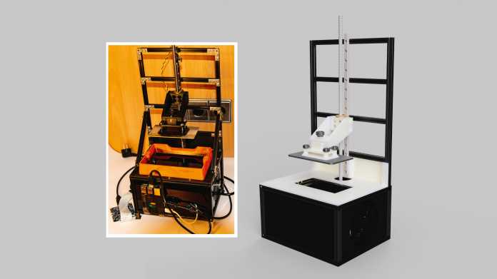 Resin-3D-Drucker im Eigenbau