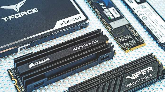 Aktuelle SSDs mit SATA- und PCIe-Schnittstelle