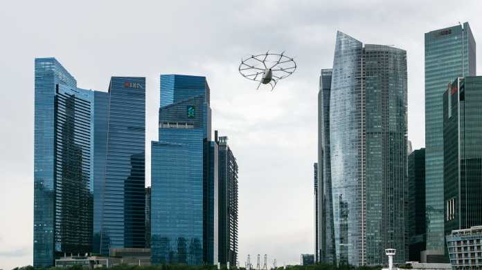 Volocopter: Deutsches Flugtaxi fliegt über Singapur