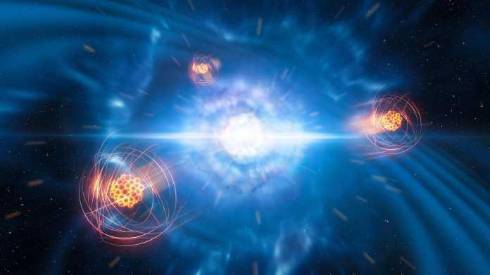 Dank Gravitationswellen: Erstmals frisch entstandenes schweres Element gefunden