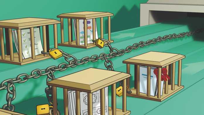 Auftragsfertigung unter Kontrolle von Blockchain und International Data Space