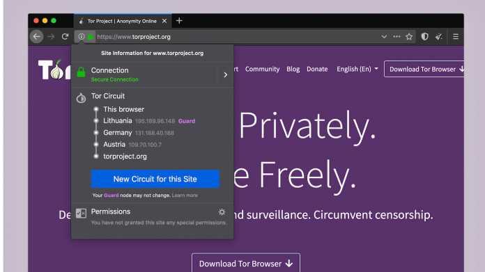 Tor-Browser 9.0 mit verbesserter Bedienung