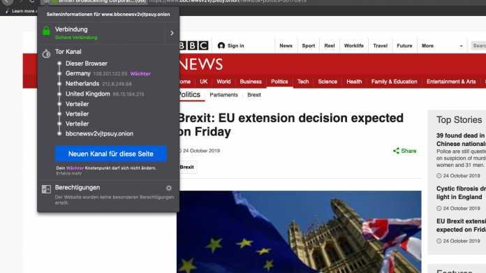 BBC startet News-Website im Tor-Netzwerk