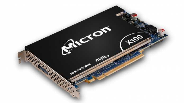 """Micron X100: """"Schnellste SSD der Welt"""" dank 3D XPoint"""