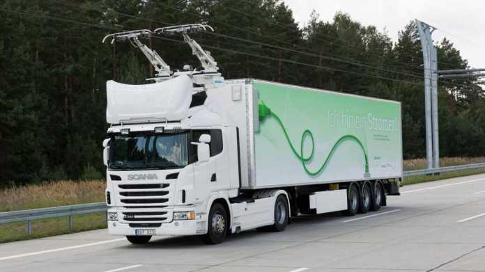Nachrüstarbeiten an Teststrecke für E-Laster - Start weiter ungewiss