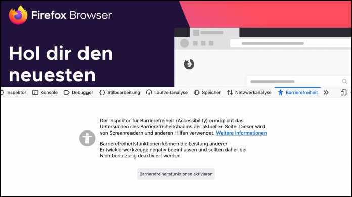 Firefox mit neuen Tools für ein barrierefreies Web