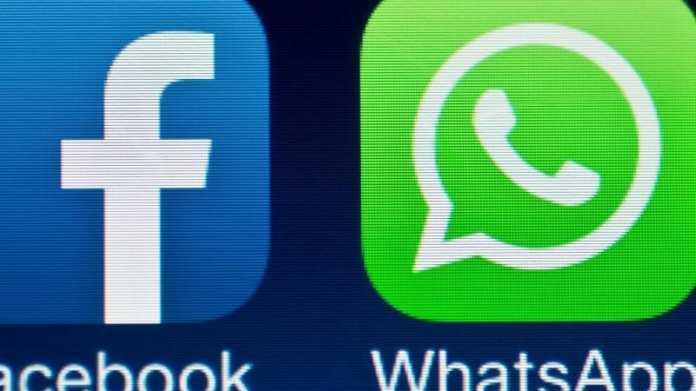 """Icons """"Facebook"""" und """"WhatsApp"""""""