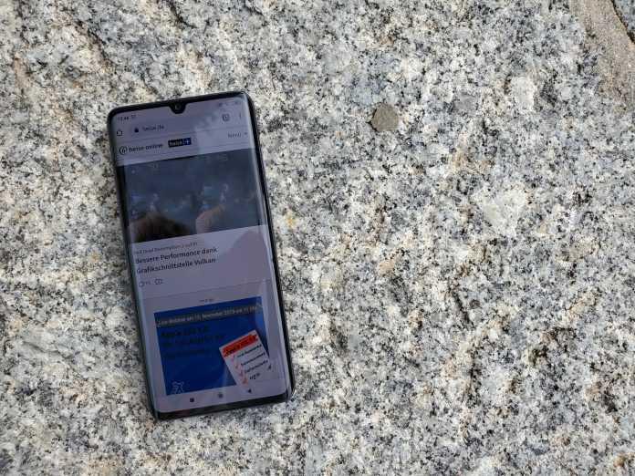 Das 6,47-Zoll-Display des Mi Note 10 ist außen leicht abgerundet.