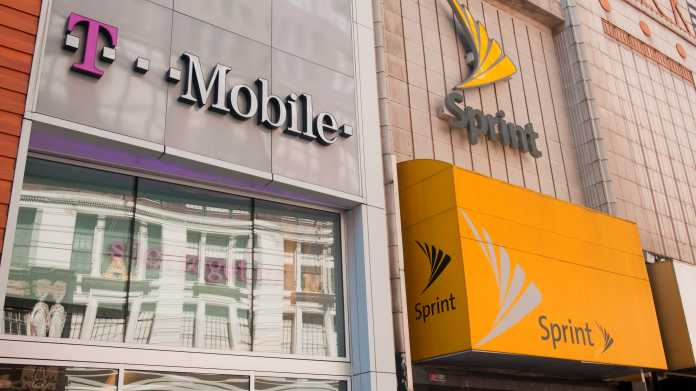 T-Mobile-Filiale neben Sprint-Filiale