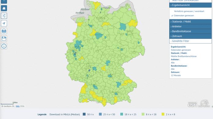 Bundesnetzagentur: Karte mit Ergebnissen der Funkloch-App veröffentlicht