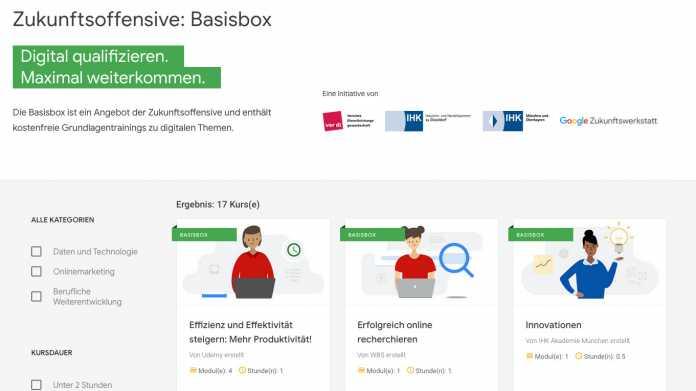 Basisbox: Google und Partner starten digitales Weiterbildungsangebot