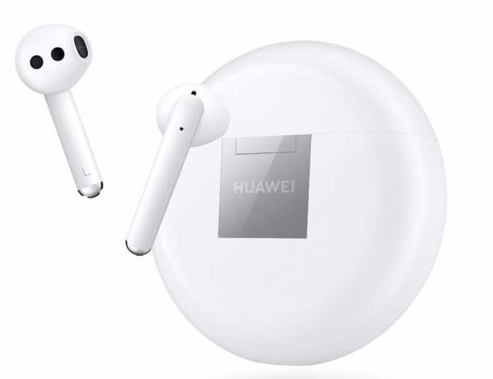 Die Freebuds 3 von Huawei mit Lade-Case.