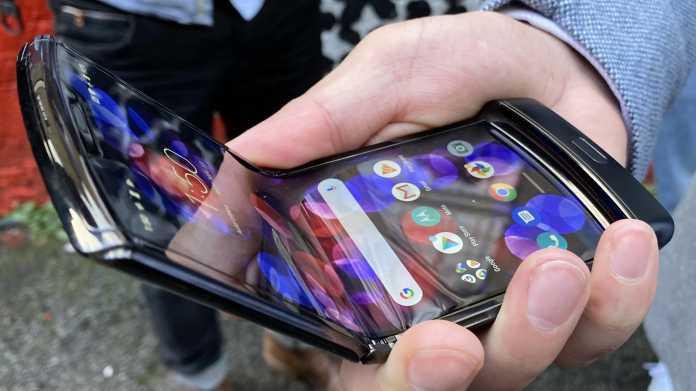 Motorolas Falt-Klapp-Phone Razr in einem ersten Hands-On