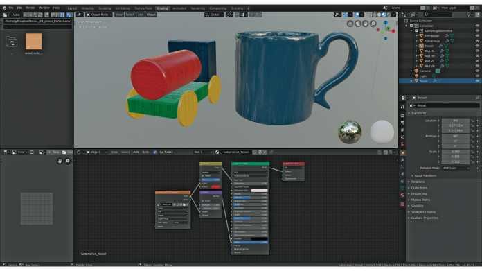 Blender-Workshop, Teil 3: Glänzendes Porzellan und Massivholz