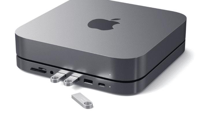 Vordere Anschlüsse für den Mac mini