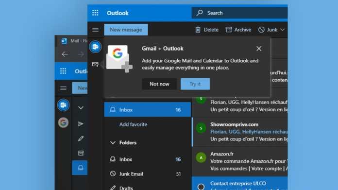 Outlook.com integriert Gmail, Google Drive und Kalender