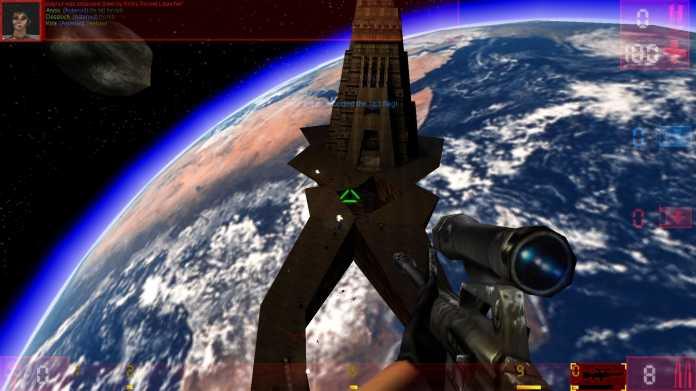 Facing Worlds ist einer der bekanntesten Capture-the-Flag-Maps. Jedes Team muss die jeweils gegnerische Flagge in die eigene Basis bringen. Wären da nur nicht die geringe Gravitation und die ganzen Sniper.