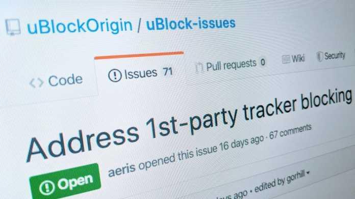 Firefox: uBlock Origin schützt vor versteckten Trackern