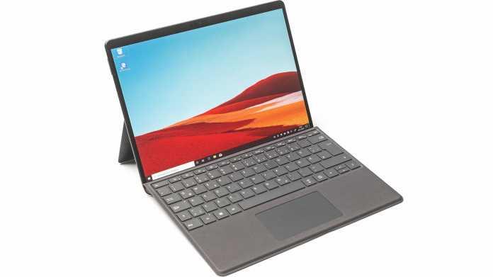 Windows-10-Tablet Microsoft Surface Pro X mit ARM-Prozessor Microsoft SQ1