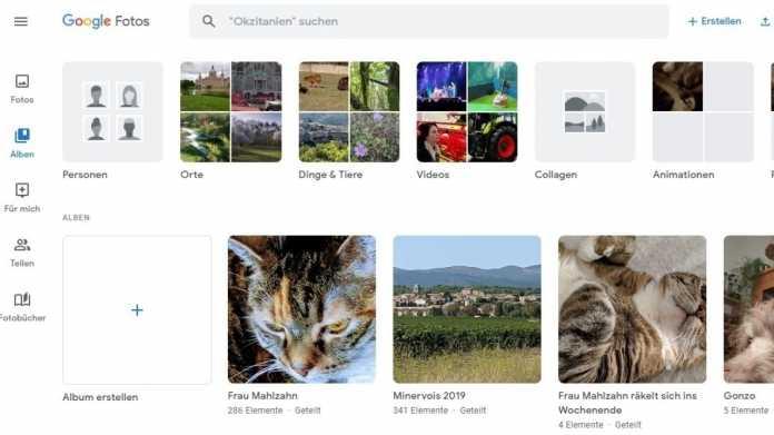 Google Photos: Bilder verschicken in privaten Unterhaltungen