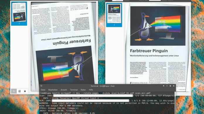 Durchsuchbare PDF-Dokumente mit OCRmyPDF