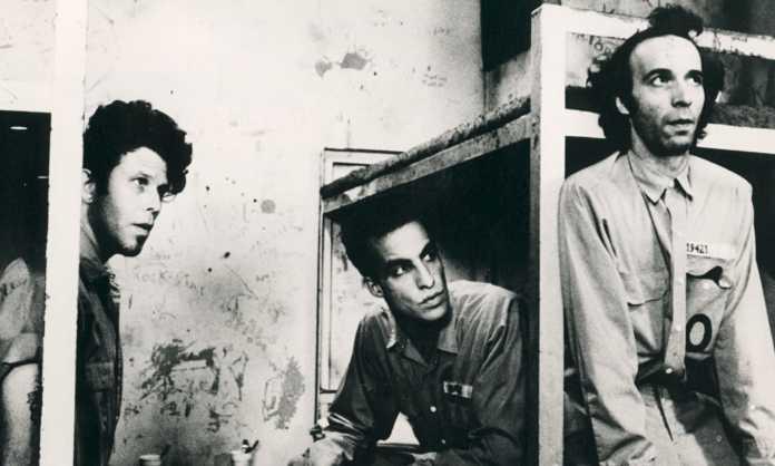 "Tom Waits, John Lurie, Roberto Benigni (v.l.n.r.) in ""Down by Law"" von Jim Jarmusch"