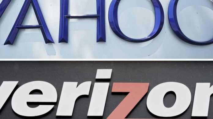 Logos von Yahoo und Verizon