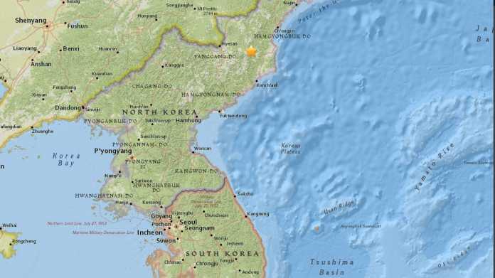 Landkarte Nordkoreas